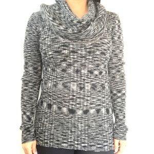 Gray Cowl Sweater with Long Sleeves